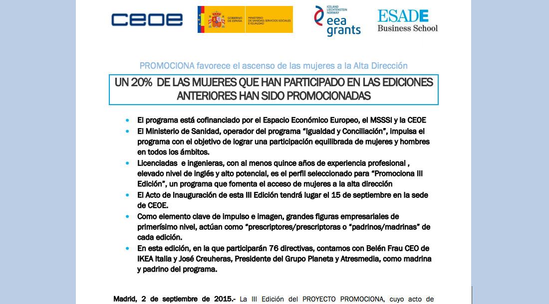 Proyecto Promociona - Inauguración 3º Edición