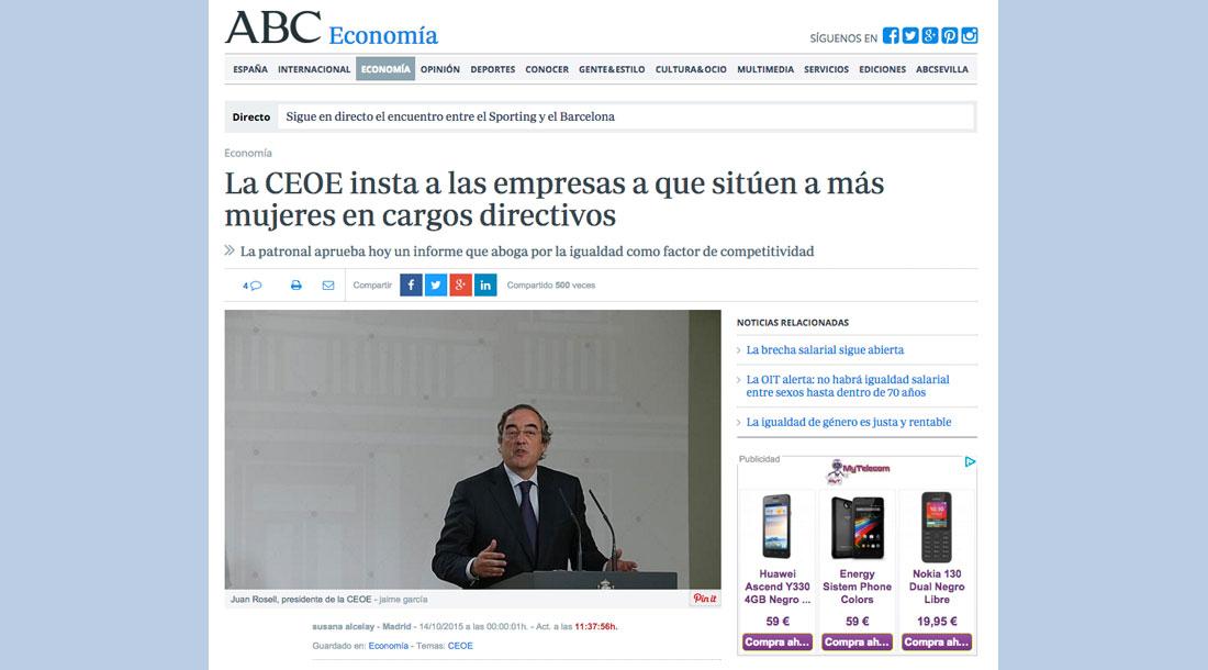 Proyecto Promociona - Artículo ABC Mujeres Directivas
