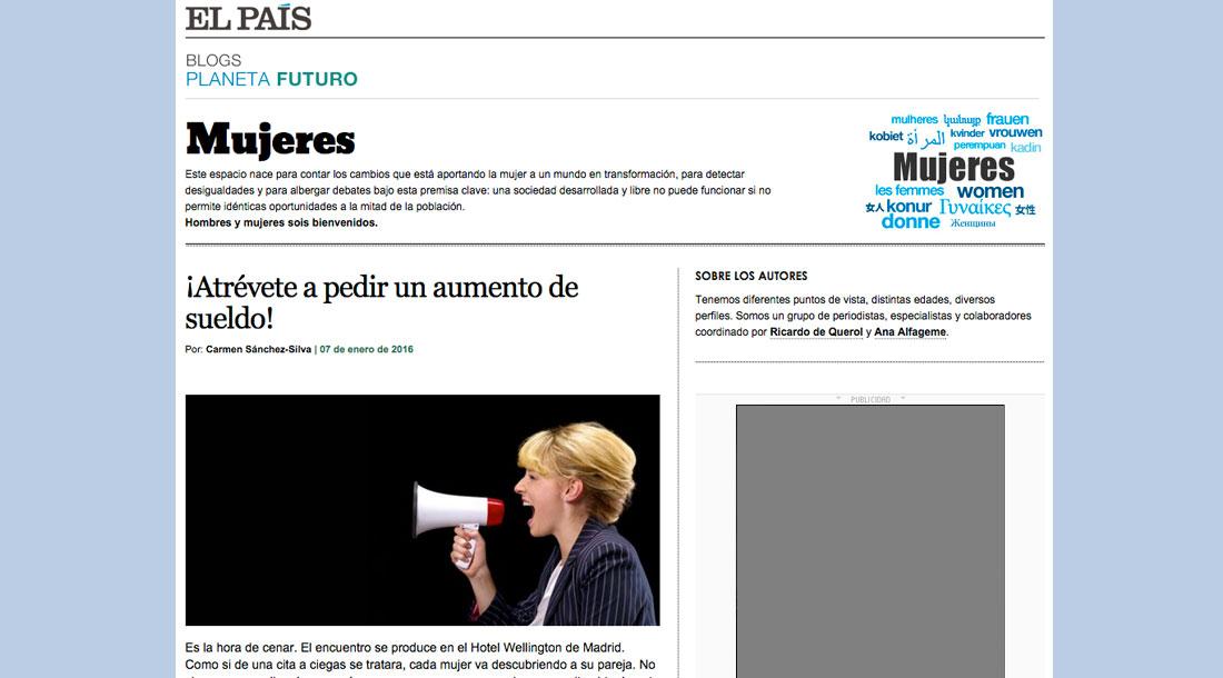 Artículo Carmen Sánchez-Silva de El País - Atrévete a pedir un aumento!